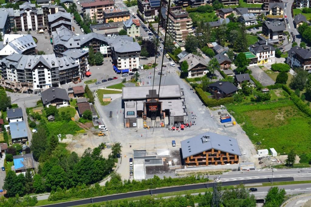 Gare du téléphérique à Chamonix