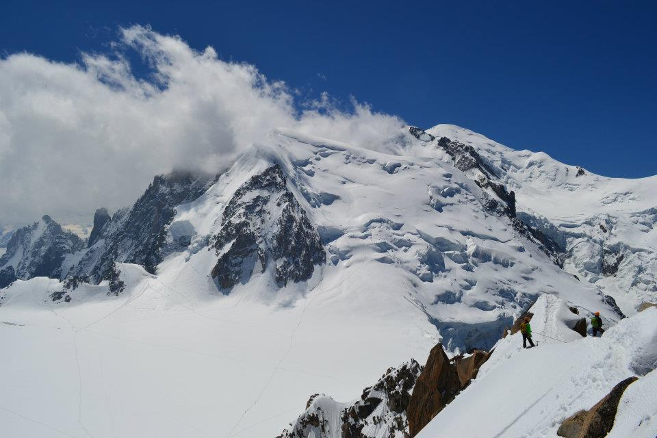 Mont Blanc depuis aiguille du midi