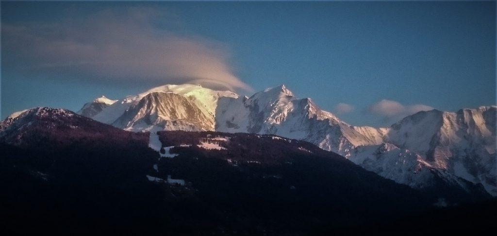 Nuage lenticulaire et Mont Blanc - effet de foehn