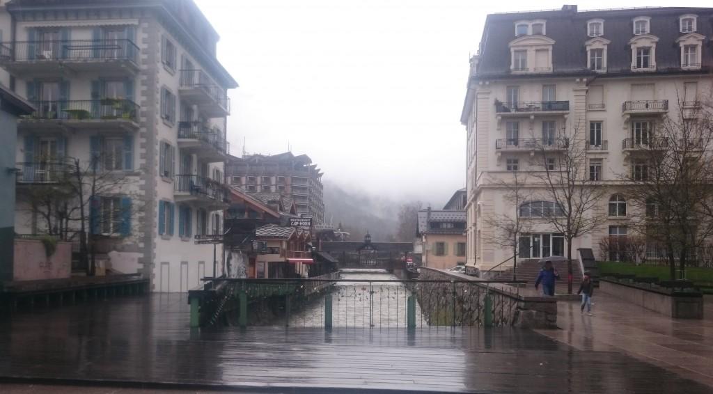 Chamonix sous la pluie