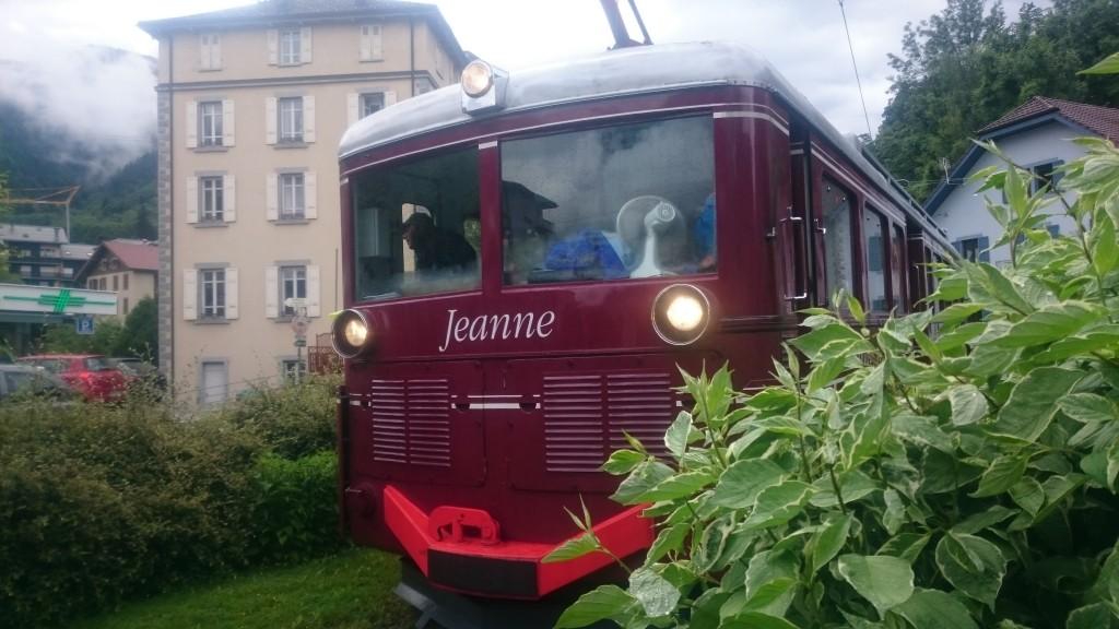 Tramway Mont Blanc en gare du Fayet