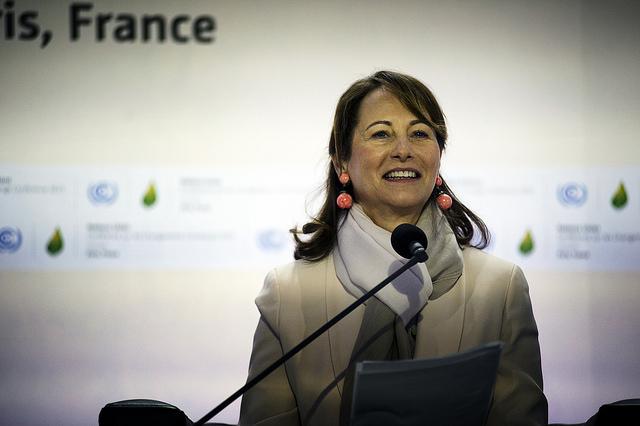 Ségolène Royal lors de la COP 21 à Paris