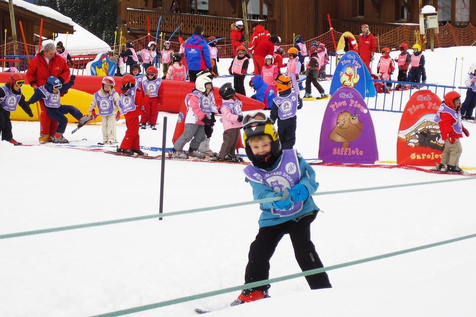 Chamonix ski enfant