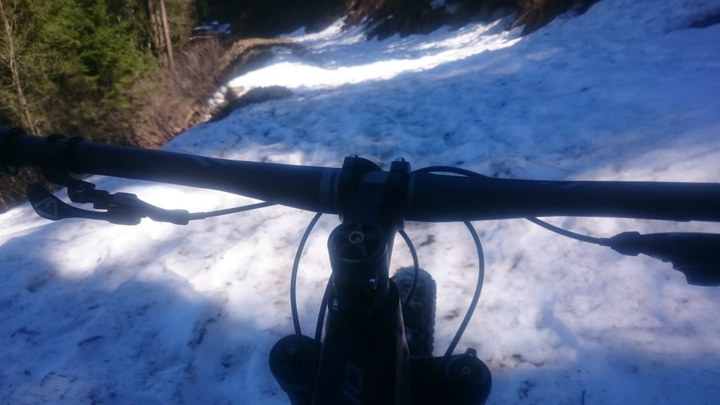 Vtt Chamonix sur Neige