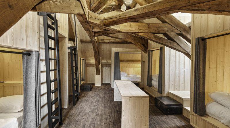 Vue du dortoir refuge Montenvers