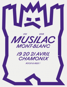 Affiche Musilac Chamonix Mont Blanc